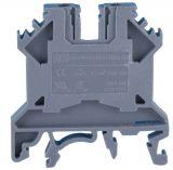 Terminal block SCRW 2.5U 2.5mm2, 24A, 750V, grey, plastic