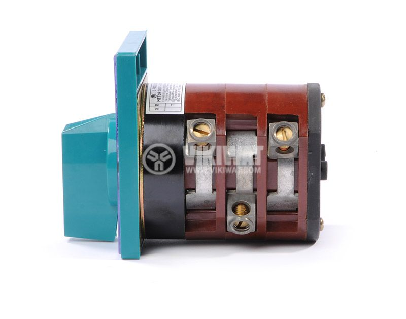 Rotary cam switch, 100А, 380VAC, 3 sections, 3 contacts, 2 positions, Metop - 4