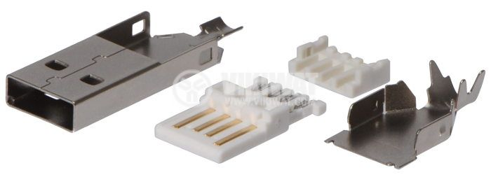 USB А Connector, 4 pins, M