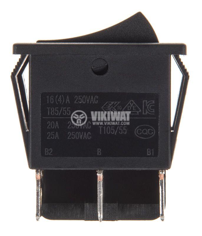 Rocker превключвател, 2x2 позиции, ON-ON, 20A/250VAC, отвор 28x22mm - 2
