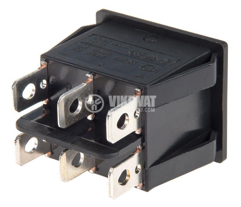 Rocker превключвател, 2x2 позиции, ON-ON, 20A/250VAC, отвор 28x22mm - 3