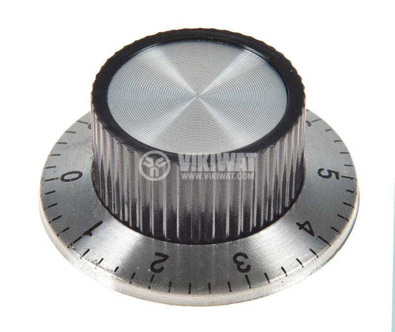 Копче за потенциометър ф36.8х15.6mm с фланец и брояч - 1