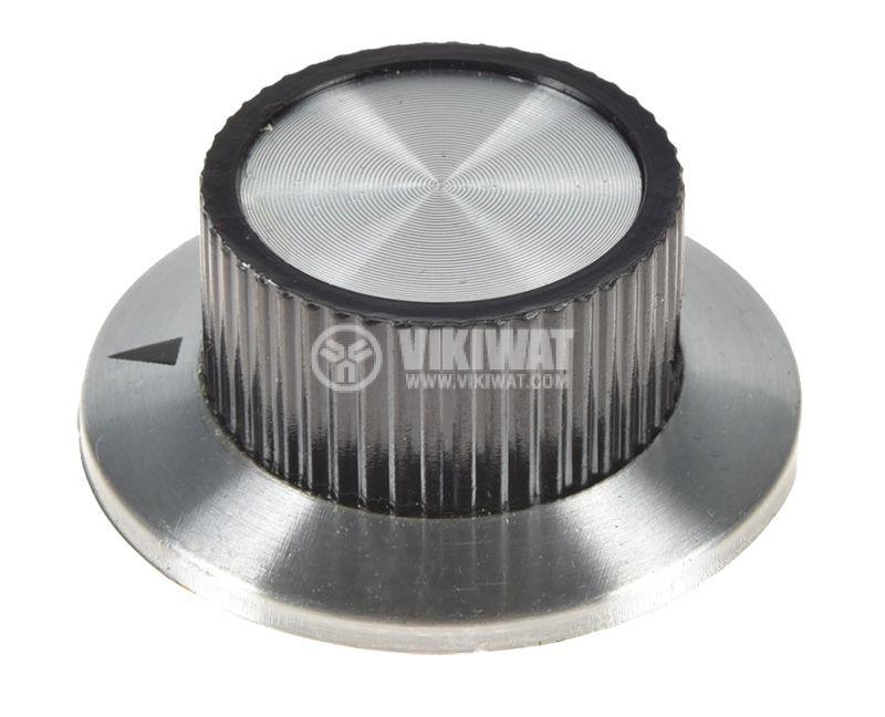Копче за радиален потенциометър ф36.8х15.6mm с фланец и индикатор - 1
