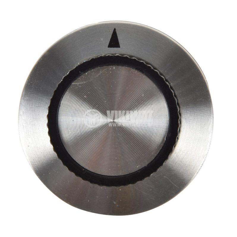 Копче за радиален потенциометър ф36.8х15.6mm с фланец и индикатор - 3
