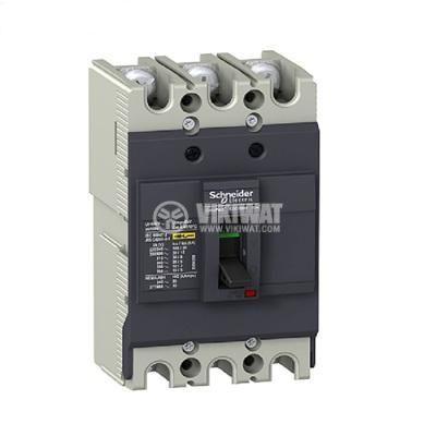 Automatic Circuit Breaker, EZC100N3100, 3P, 100А, 550VAC