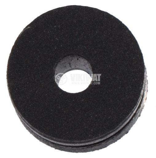 Ролка, гумена D6mm, H2.8mm с отвор ф1mm - 2