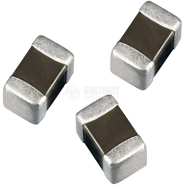 Capacitor SMD, C0603, 1nF, 50V, X7R - 1