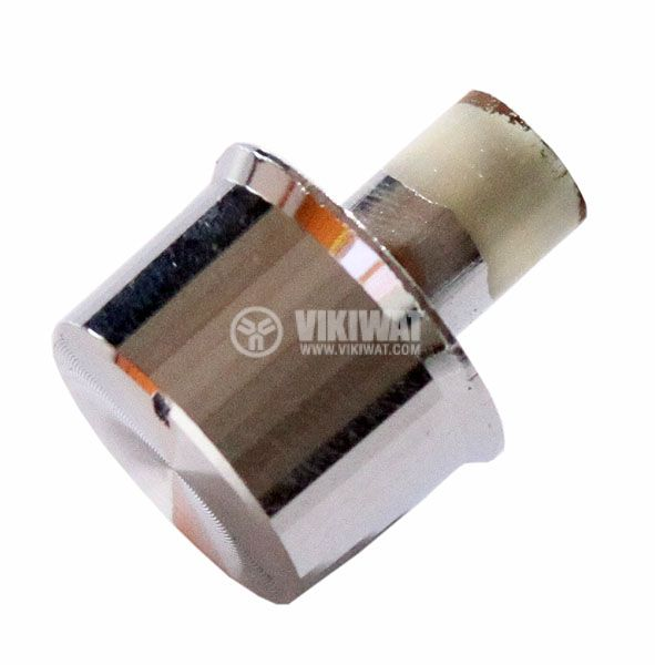 Копче за потенциометър Ф19х12 mm с фланец и индикатор