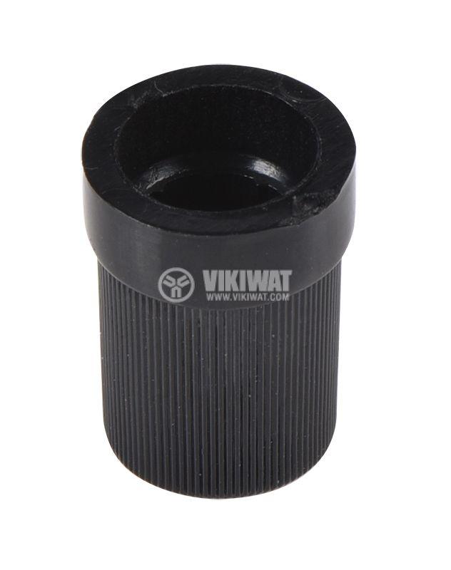 Копче за потенциометър Ф10х15 mm с индикатор черно  - 3