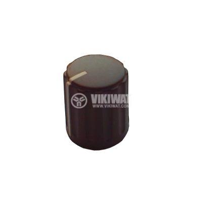 Копче за потенциометър ф15,5х17 mm с индикатор, кафяво - 1