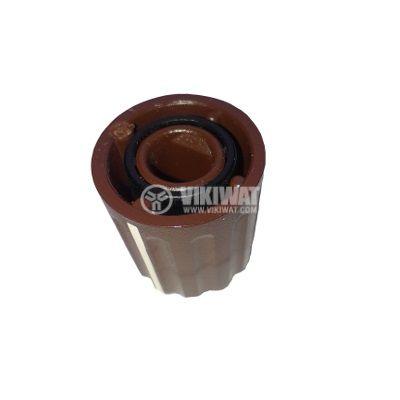 Копче за потенциометър ф15,5х17 mm с индикатор, кафяво - 2