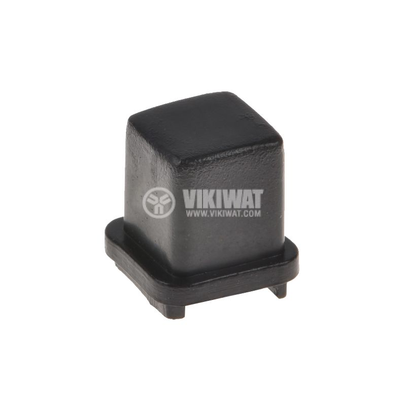 Копче за потенциометър, 10х10х10.5 mm, черно - 1
