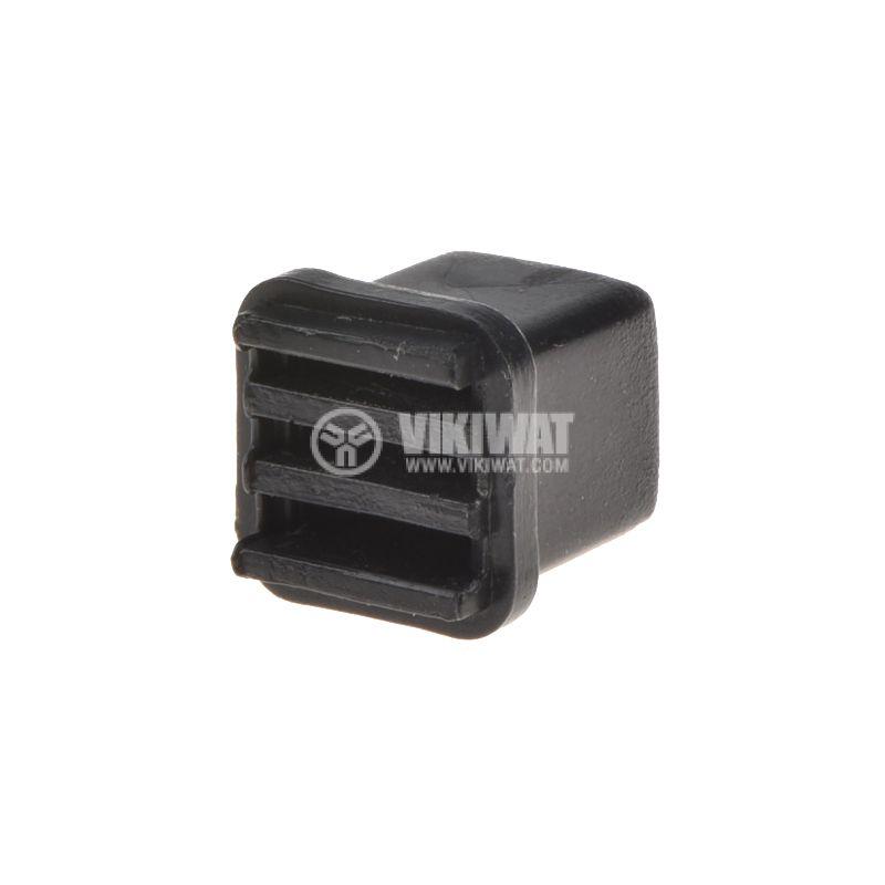 Potentiometer knob, 10х10х10.5 mm, black - 2