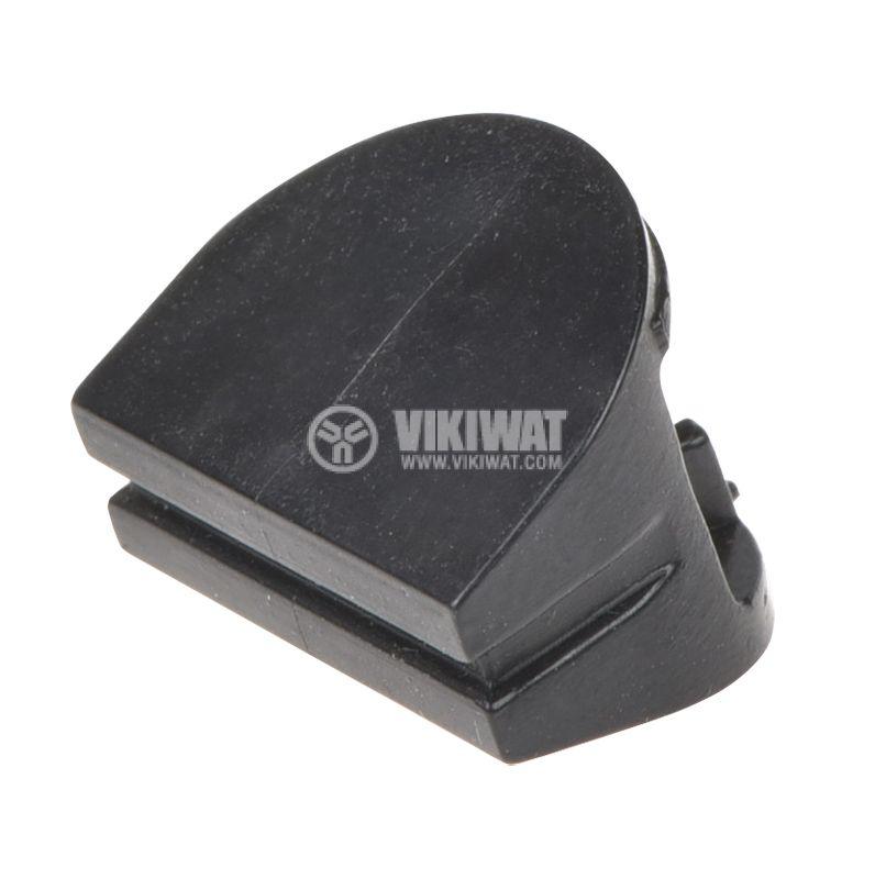 Копче за потенциометър, 10х14х10.5 mm, черно - 1