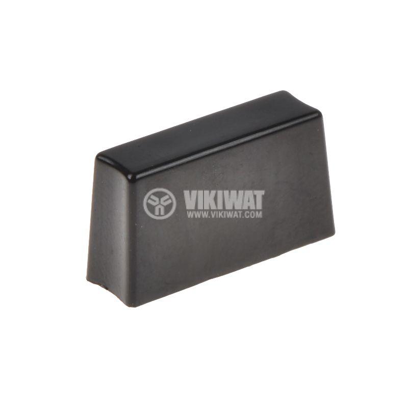 Копче за потенциометър, 10х6х18mm, черно - 1