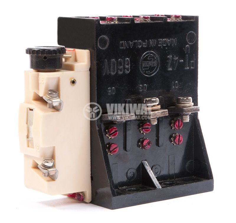 Thermal protection relay PT-4Z, three phase, 25-35A, NO + NC, 1A / 380VAC - 2