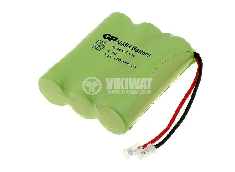 Акумулаторна батерия T160, 3.6V, 600mAh, Ni-Mh, AA