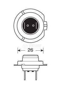 Автомобилна халогенна лампа 55W - 3