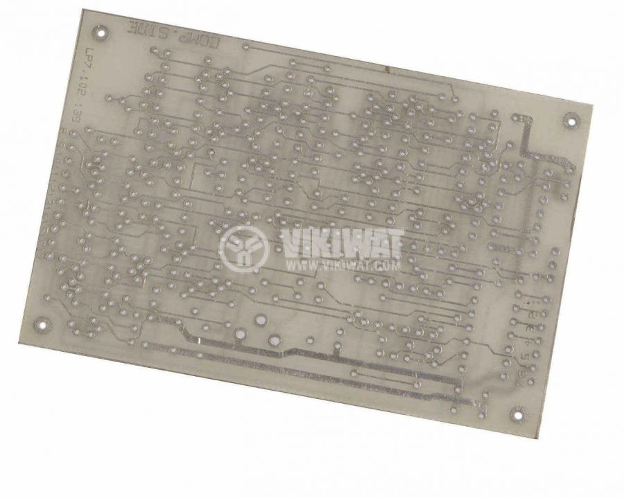 Universal PCB, single sided, 64x96mm, 2.54mm