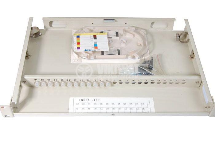 Кутия за фиброоптични кабели, метална 19 инча - 2