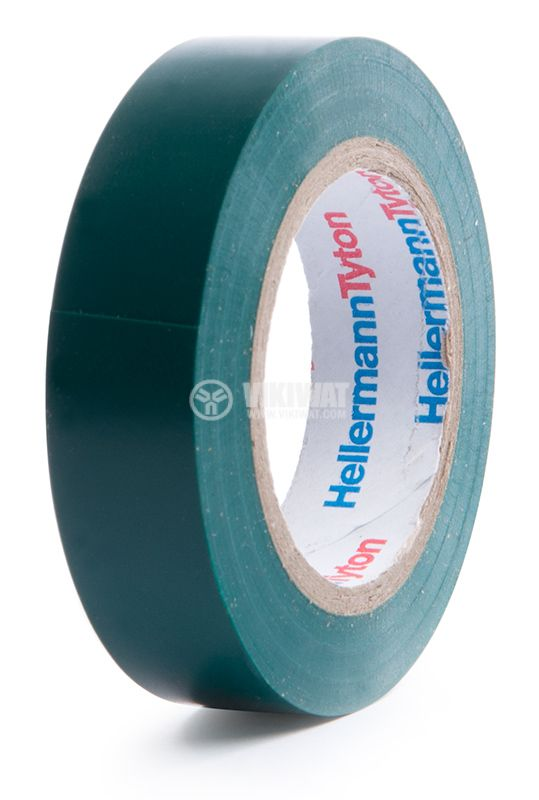 PVC insulating tape, insulating tape, HELATAPE FLEX 15, 15MM X 10M, green - 1