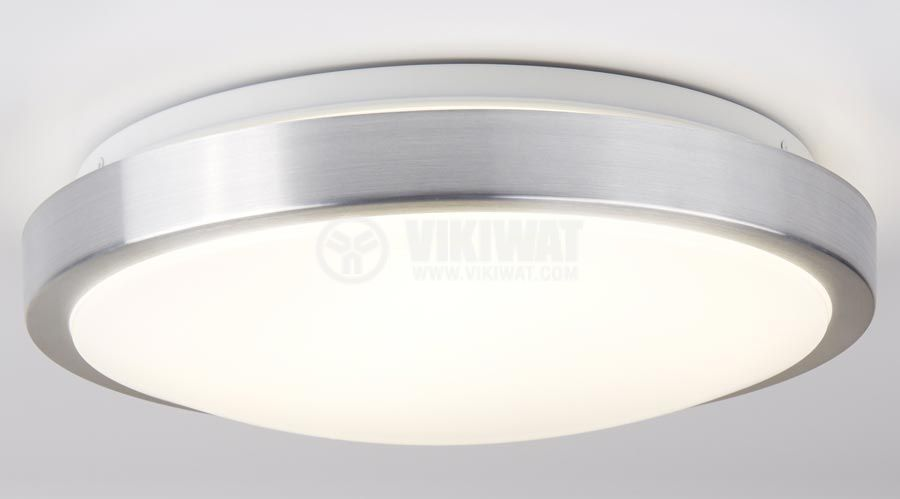 LED ceiling fixture VILLA, 15W, round, 220VAC, 1150lm,  6400K, cool white, metal trim, BH20-0428  - 2