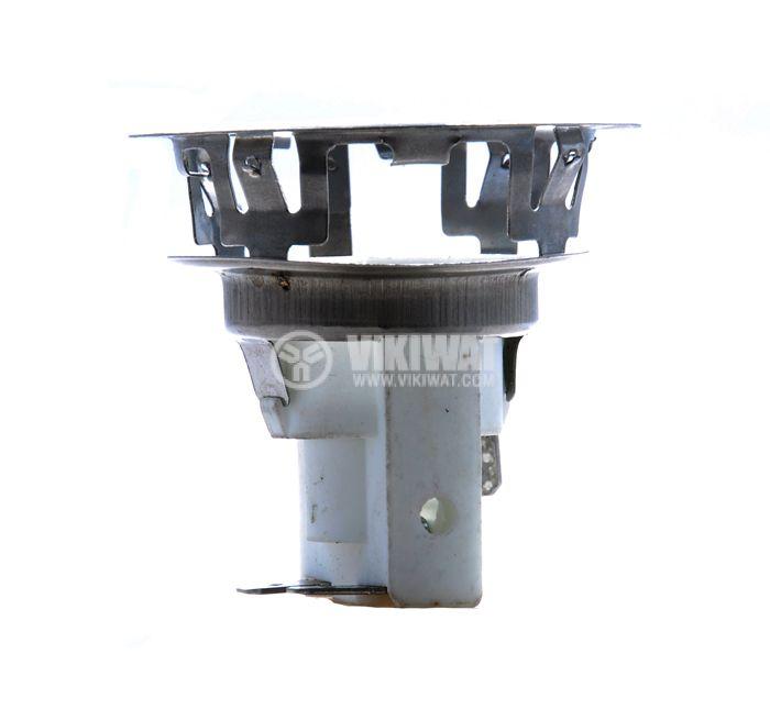 Фасунга E14, порцеланова с метална арматура, бяла, за вграждане - 1