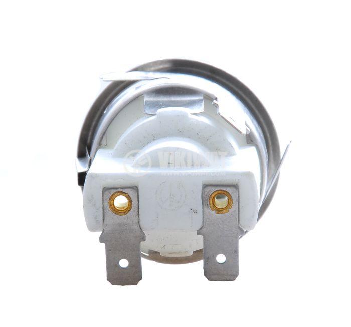 Фасунга Е14, порцеланова с метална арматура, бяла, за вграждане - 2