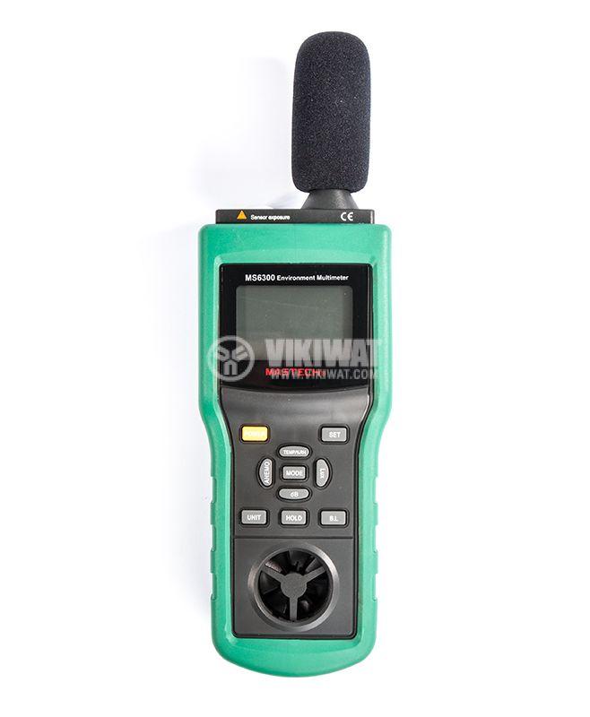 MASTECH MS6300, Luxmeter, thermometer, hygrometer sound level meter - 1