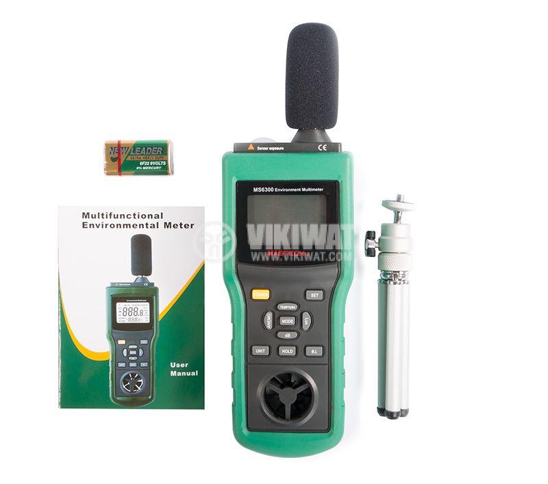 MASTECH MS6300, Luxmeter, thermometer, hygrometer sound level meter - 4