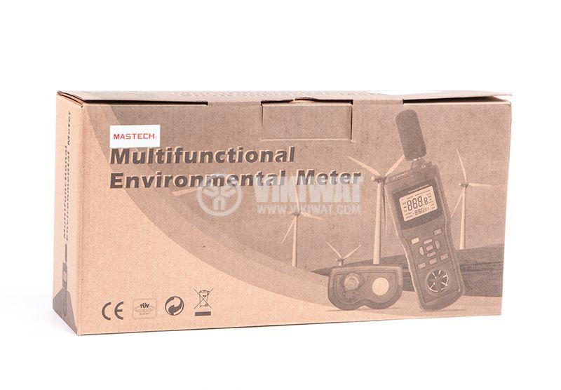 MASTECH MS6300 5 в 1 Луксметър, Термометър, Влагомер, Шумомер - 7