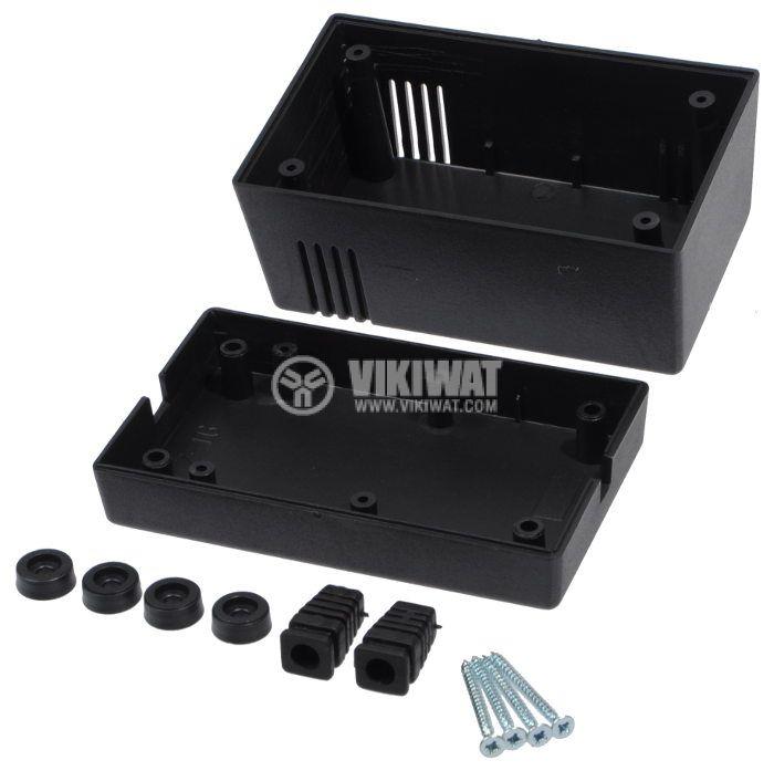 Кутия Z-16 полистирен черна 114x70x63mm - 3