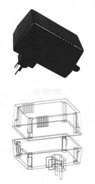 Кутия Z-10 полистирен черна 73x58x52 - 3