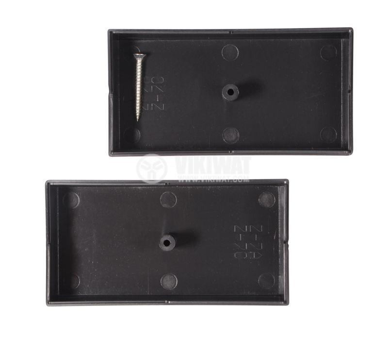 Кутия Z-7C полистирен черна 106x55x40 - 2