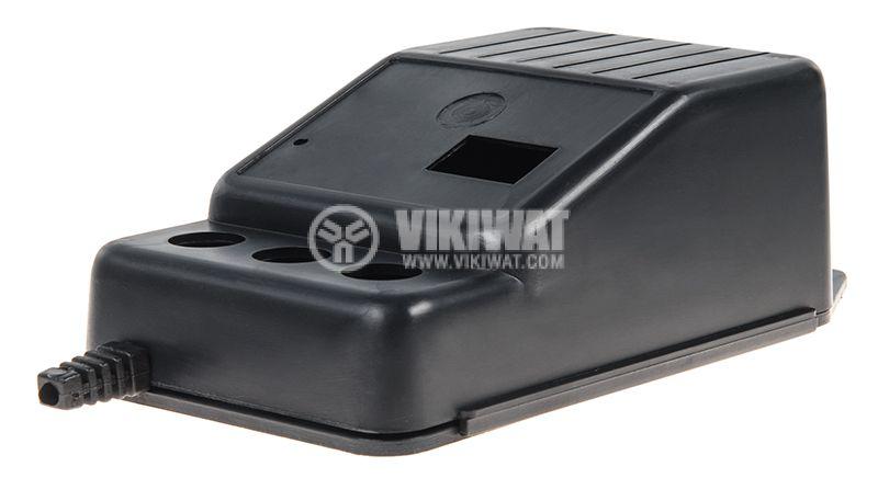 Черна пластмасова кутия Z-11 с размери 124x74x48 mm за адаптери и трансформатори. - 1