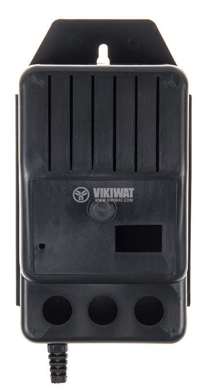 Черна пластмасова кутия Z-11 за адаптери и трансформатори. - 3