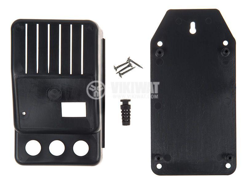 Черна пластмасова кутия Z-11 с размери 124x74x48 mm - 4
