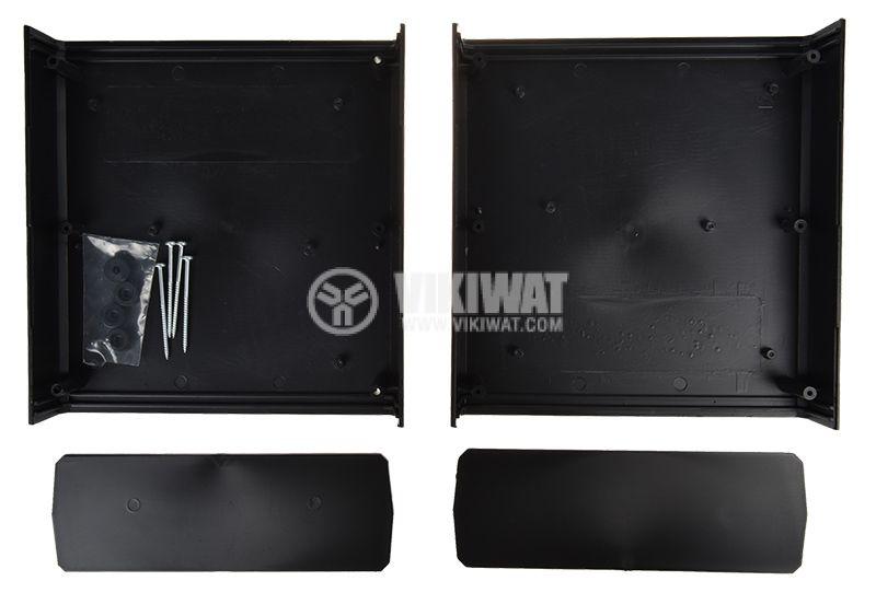 Кутия Z-1P полистирен черна 198х188х70mm - 2