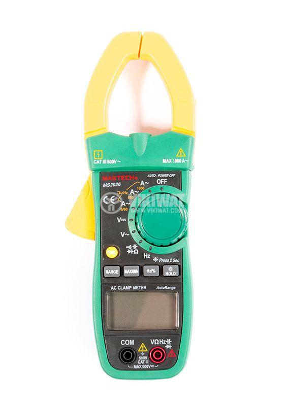 Амперклещи MS2026, LCD (6000), Φ40mm, Vac, Vdc, Aac, Ohm,  F, Hz - 3