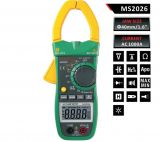 Clamp AC Meter MS2026, LCD (6000), ф40mm, Vac, Vdc, Aac, Ohm, F, Hz