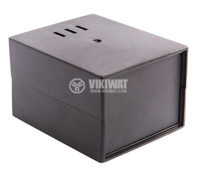 Кутия Z-3A, полистирен, черна 110x89x68mm - 1