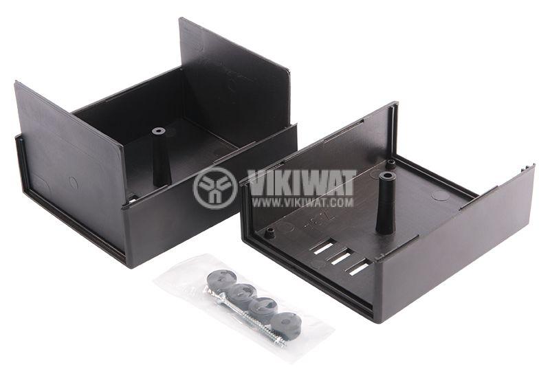 Кутия Z-3A, полистирен, черна 110x89x68mm - 2