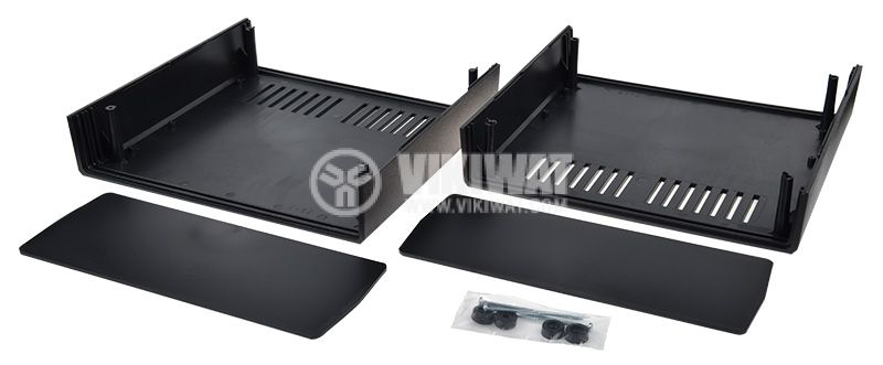 Кутия Z-17, полистирен, черна 217x237x94 - 2