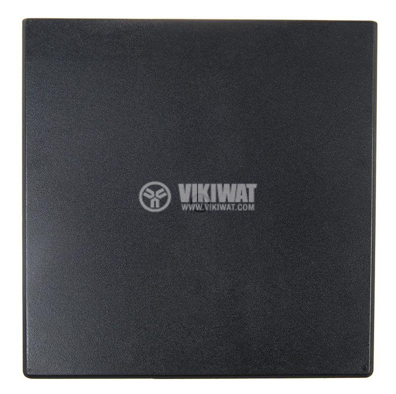 Кутия Z26, 221x219x60mm, черна, универсална - 3