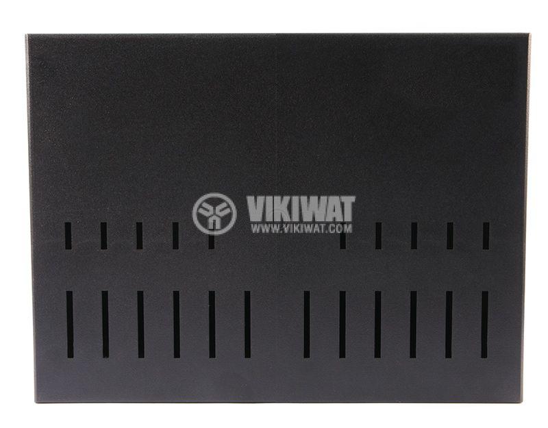 Вентилирана пластмасова кутия KRADEX Z39, полистирен, черна, 216x297x118mm - 4