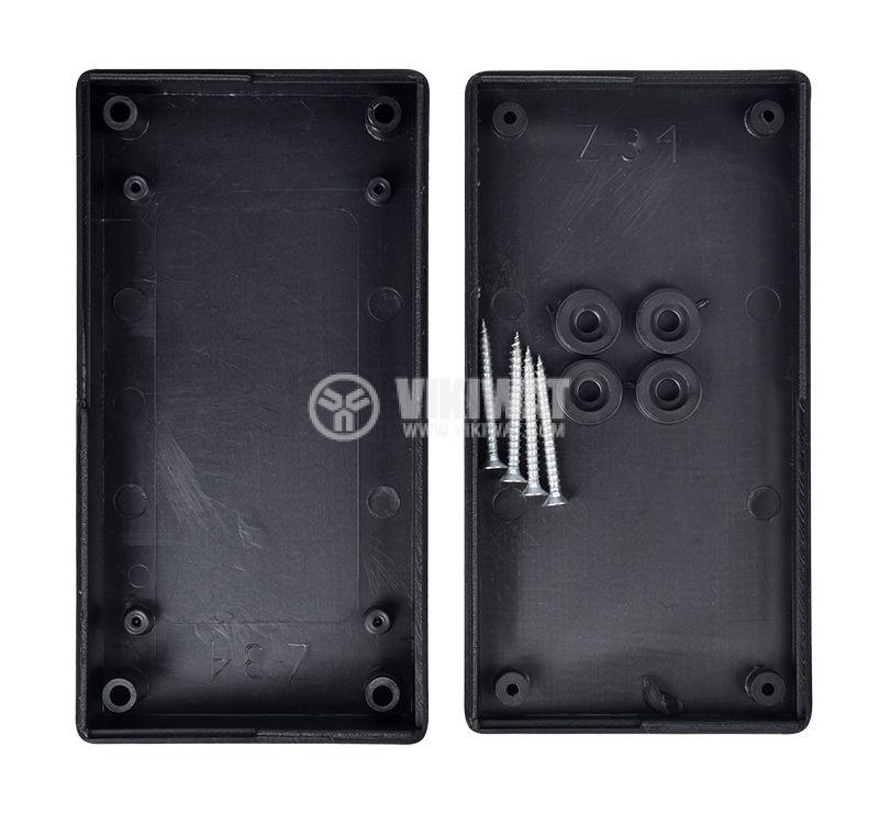 Кутия Z-34, полистирена, черна, 130x67x29mm - 3