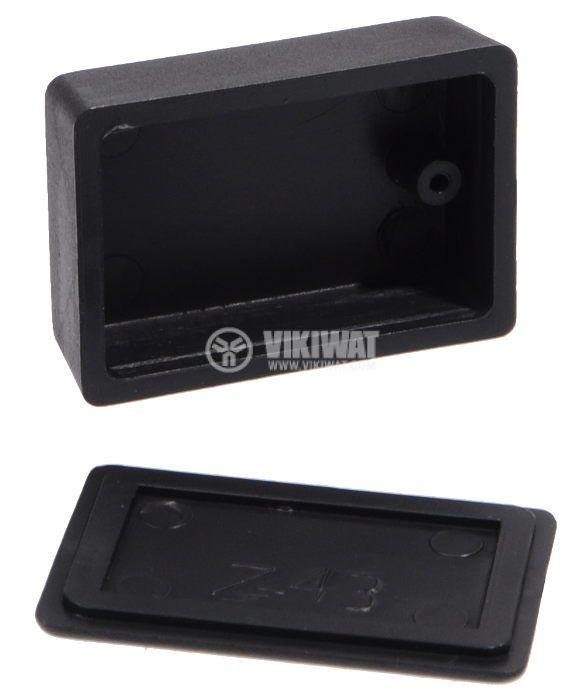 Кутия Z-43 ABS черна 46x31x16 - 3
