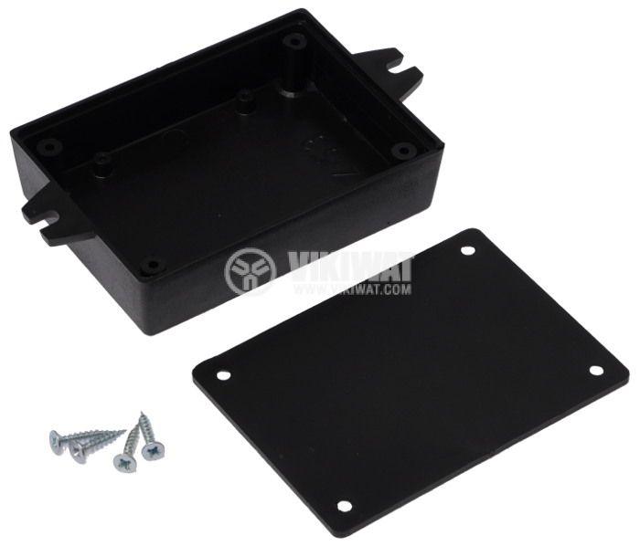 Кутия Z-53 полистирен черна 91x65x22 - 3
