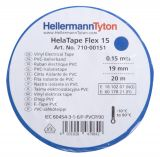 PVC изолационна лента HTAPE-FLEX15-19x20-PVC-BU, ширина 19mm, дължина 20m, синя - 2