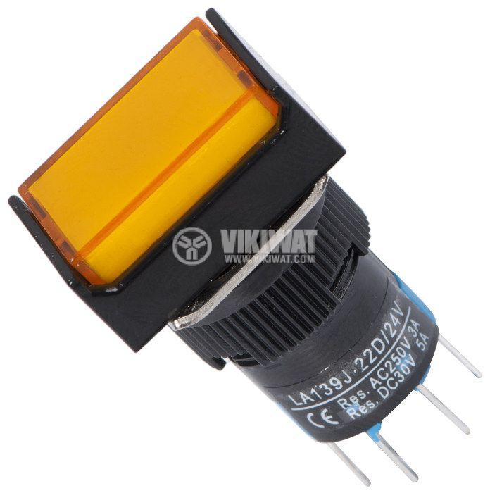 Button Switch type RAFI, LA139J-22D, 24VDC, DPDT - 2NO +2 NC - 1